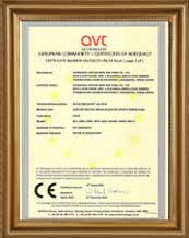 CE certificate for PVC insulated cable